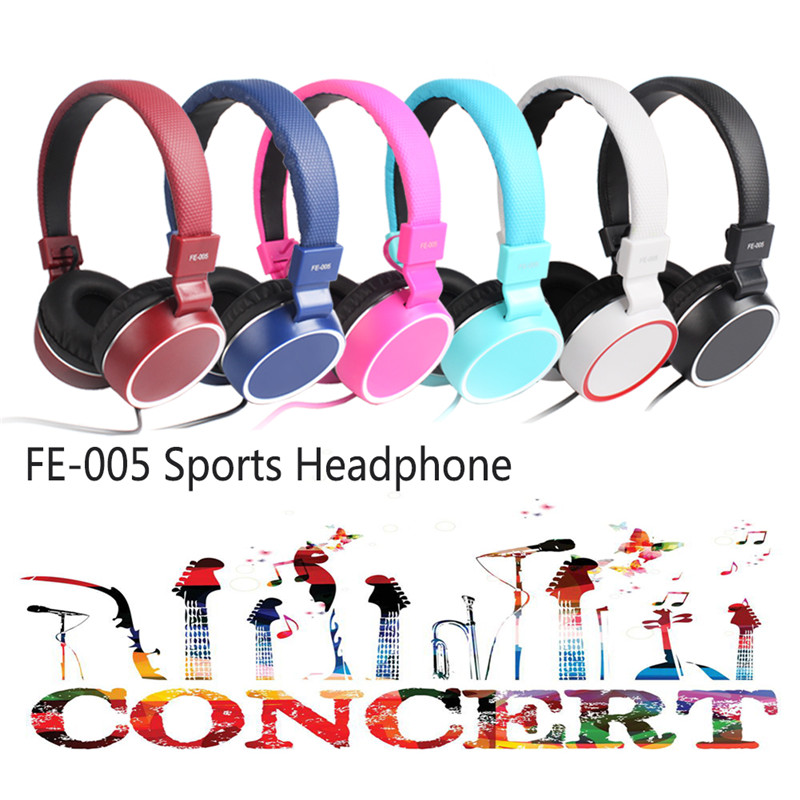 FE-005 Wired HIFI Stereo Headset Headphone Earphone with Mic for iPhone iPad PC Tablets