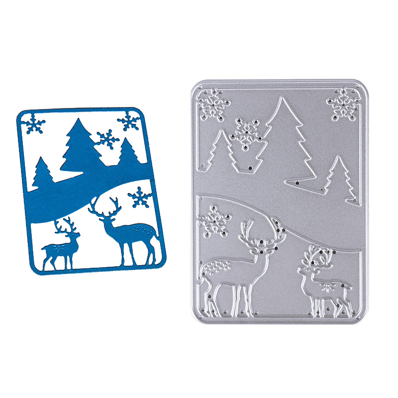 1pc Metal Christmas Tree&Deer Cutting Dies Stencils For DIY Scrapbooking Photo Album Decor Set Tool
