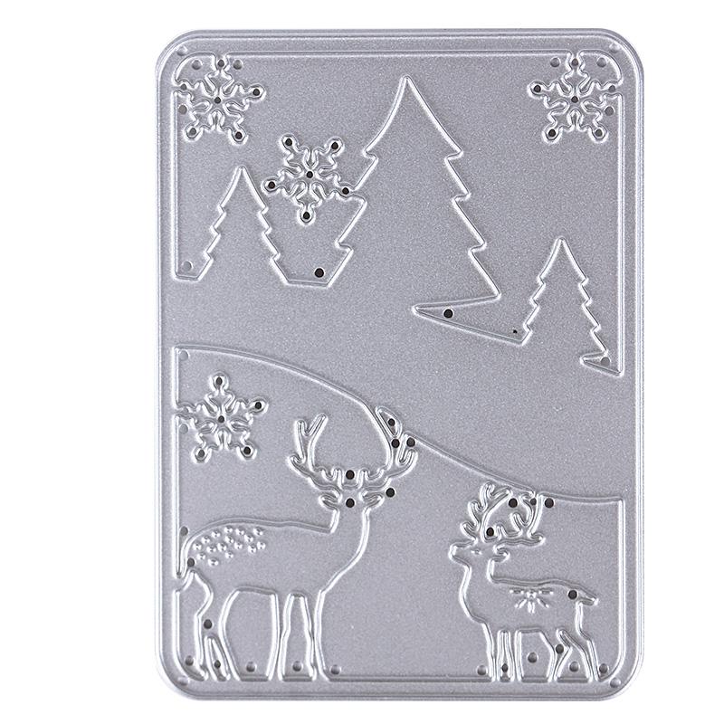 1pc Metal Christmas Tree&Deer Cutting Dies Stencils For DIY Scrapbooking Photo Album Decor Set Tool