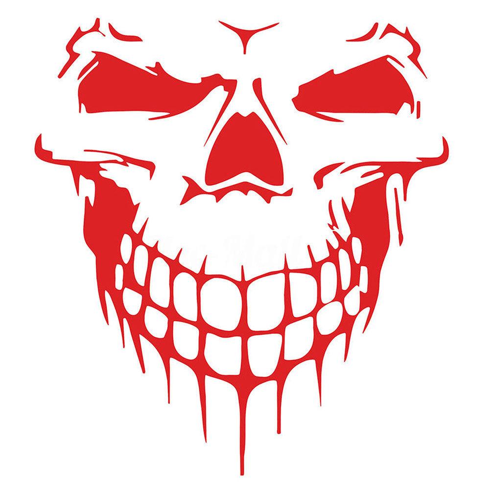 "Heavy Duty Hood Decal Vinyl Sticker Skull Car Auto Tailgate Window 16"" Reflective SUV Truck"