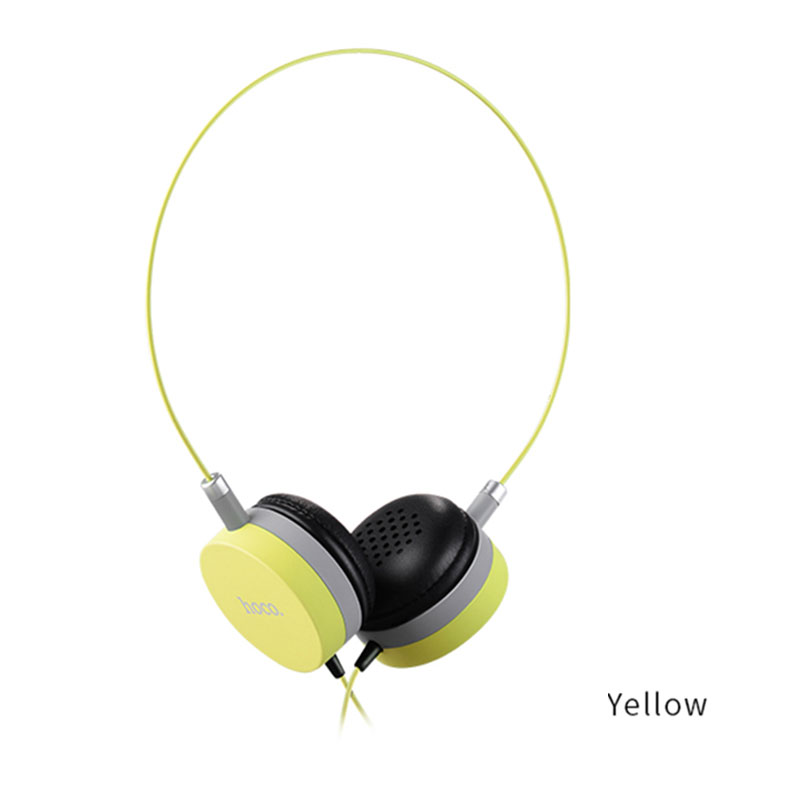W3 Wired Headphone Headset with Mic 3.5mm Audio Plug Soft PU Earmuffs for iPhone Blackberry HTC Tablets
