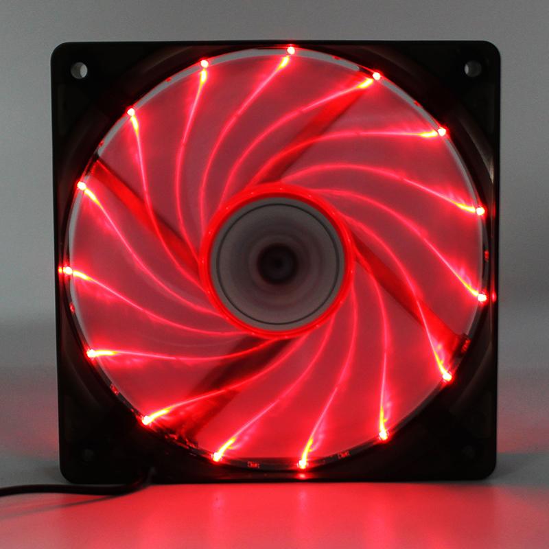 1PCS 4 Pins 15 - LED Colors Light Computer PC Case Cooling CPU Heatsink Fans