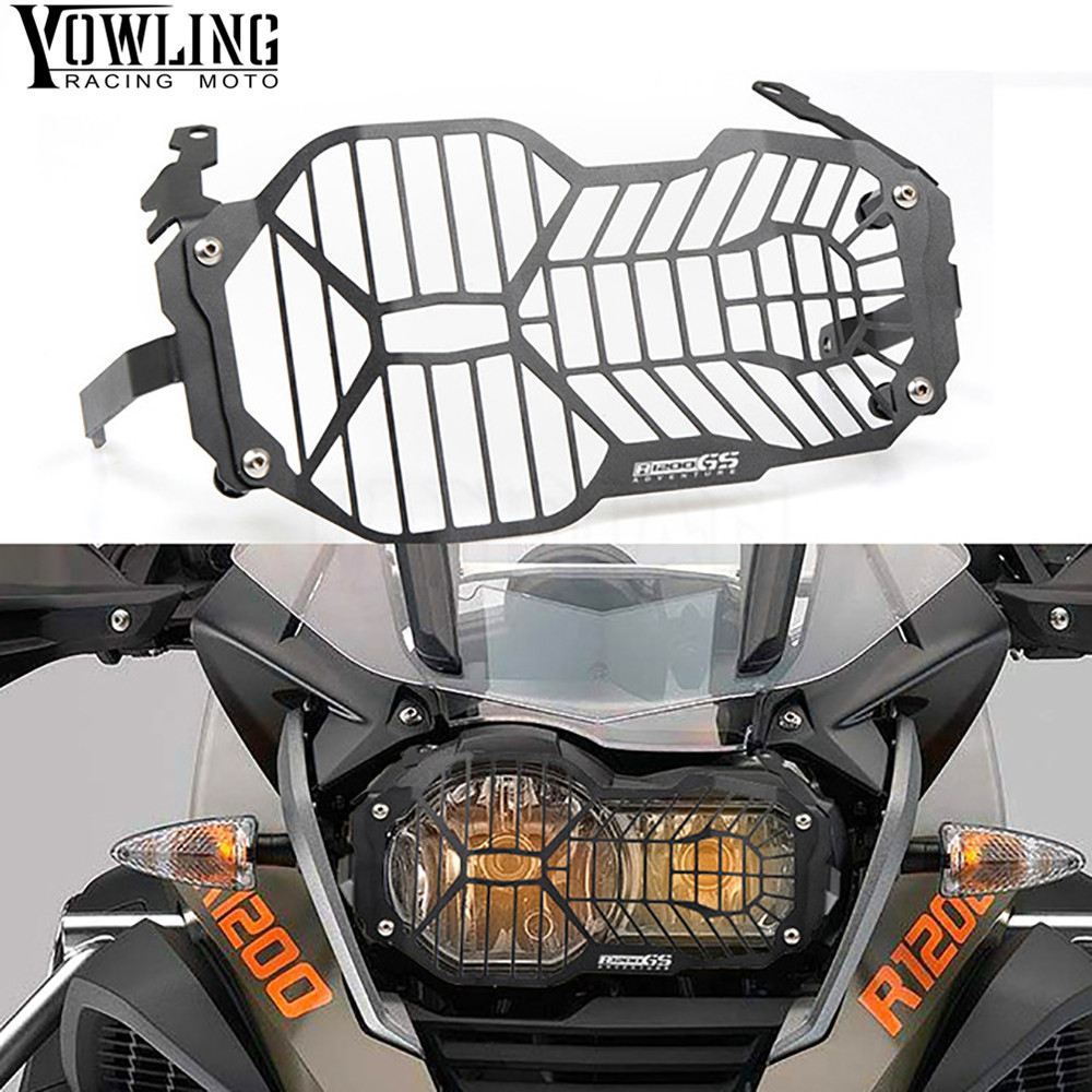 YOWLING Motorcycle Headlight Grille Guard Cover Protector For BMW R1200 GS R1200GS  R 1200 GS LC ADV 2014 2015 2016 2017