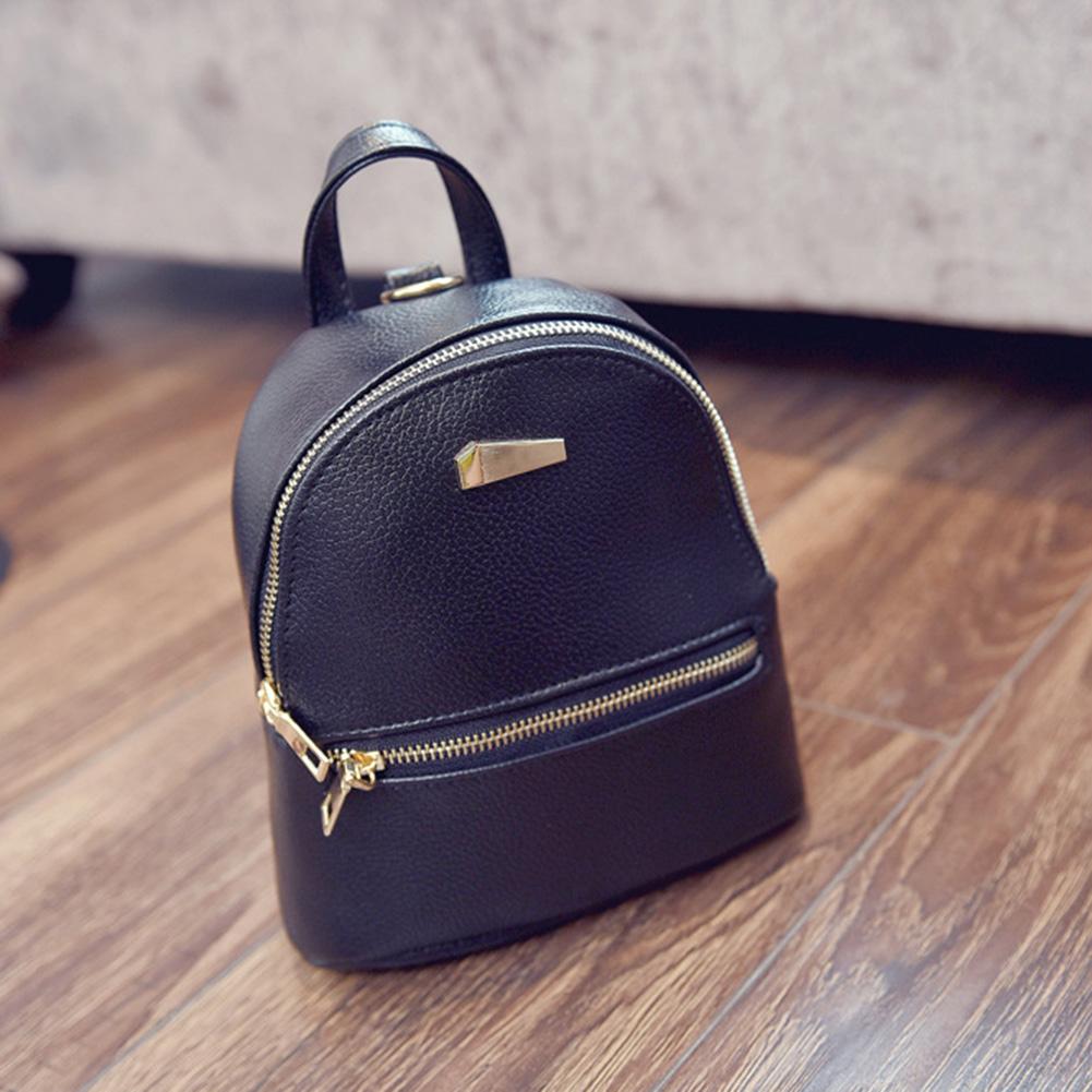 New Fashion Women Leather Backpacks Mini Travel Rucksack Handbags School Bag High Quality 3 Colors