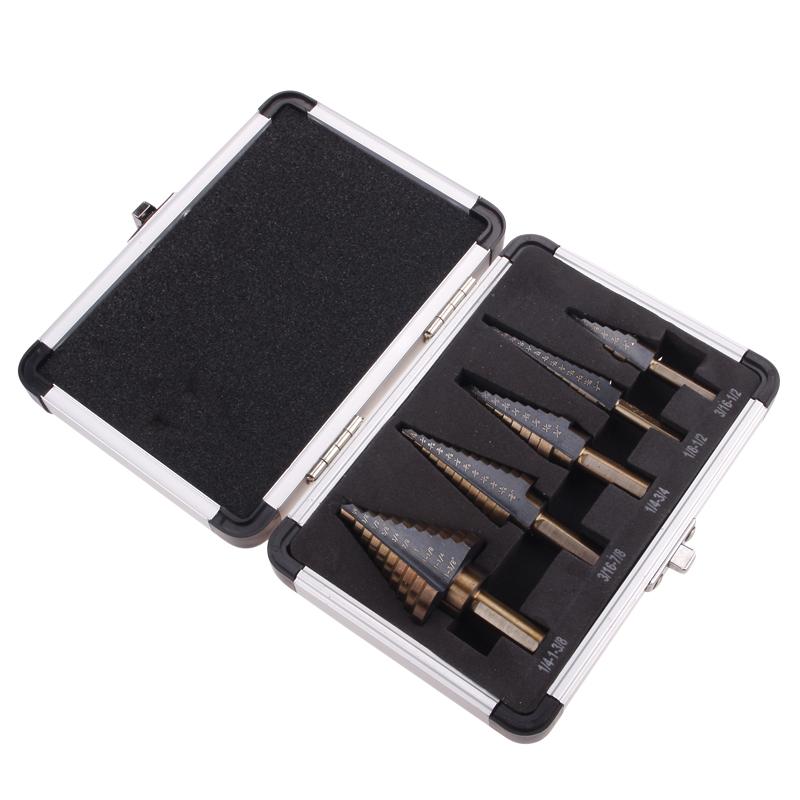 5pcs Hss Cobalt Multiple Hole 50 Sizes Step Drill Bit Hog Kit W/ Aluminum Case