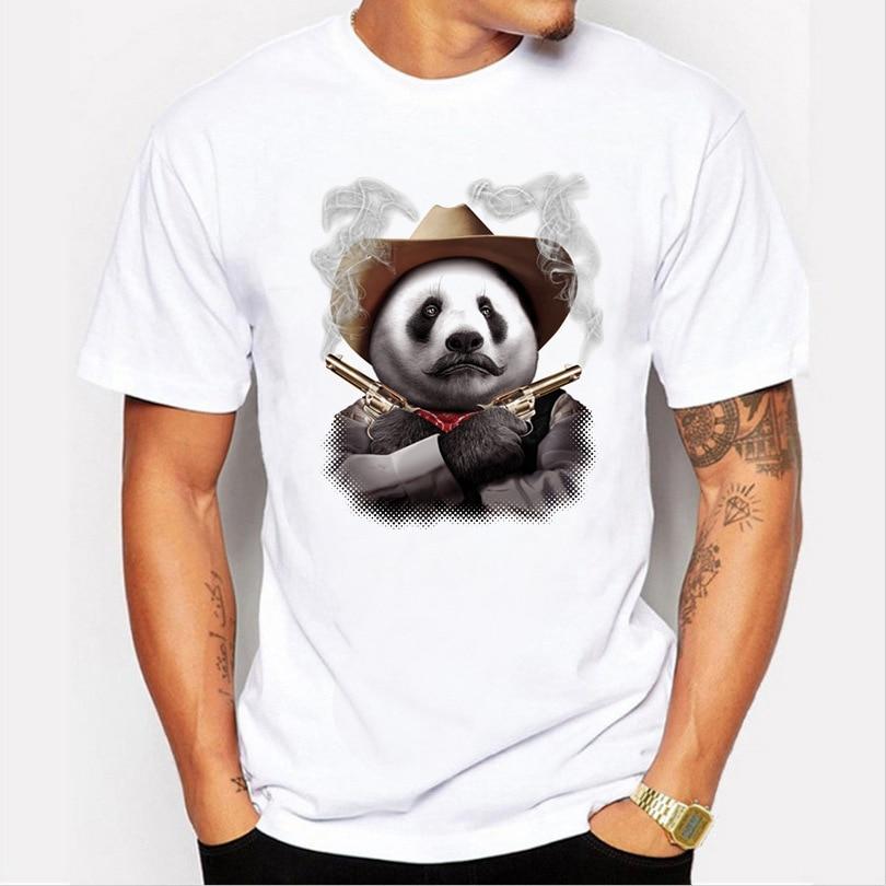 Men's T-Shirt New Summer Short Sleeve Cotton T Shirt Men Casual TShirt Fashion Panda 3D Print T-Shirt Hip-Hop Tee Shirt Male Top