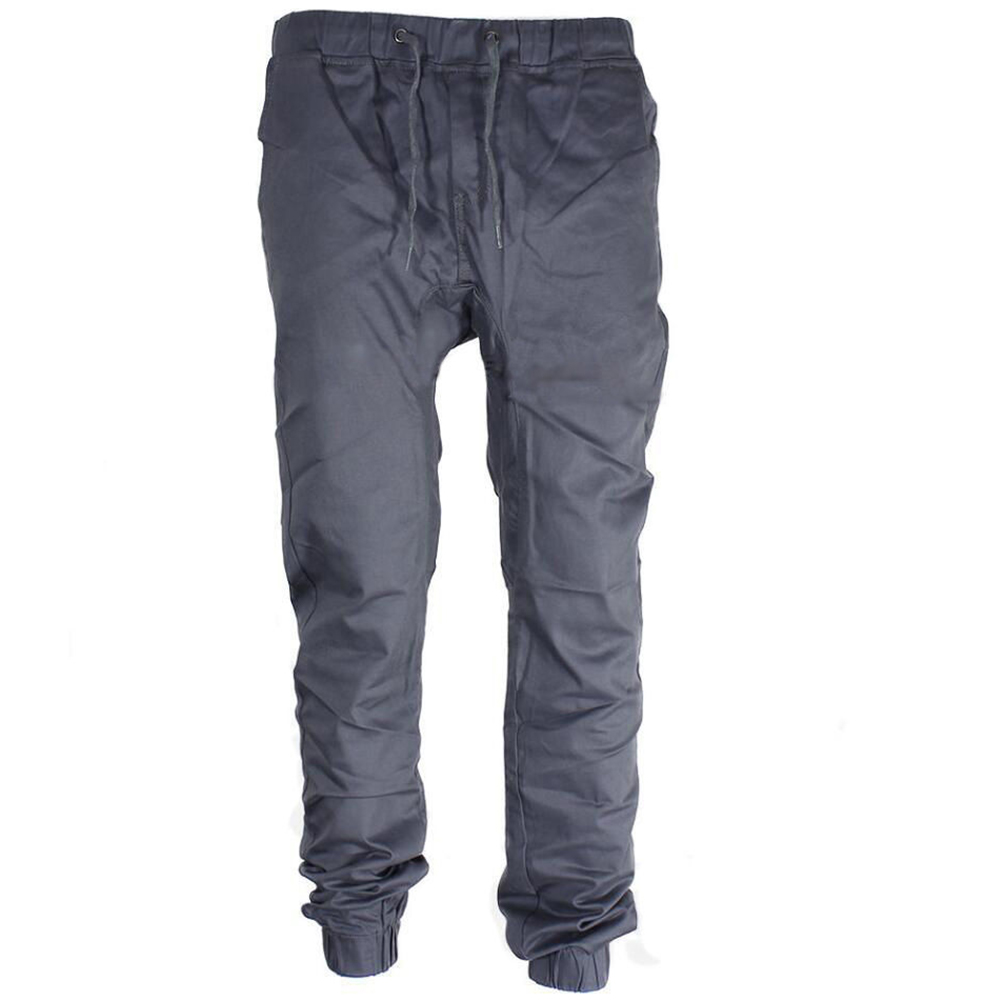 Fashion Men's Pants Casual Urban For Hip Hop Harem Trousers Slim Fit Elastic Twill Jogger