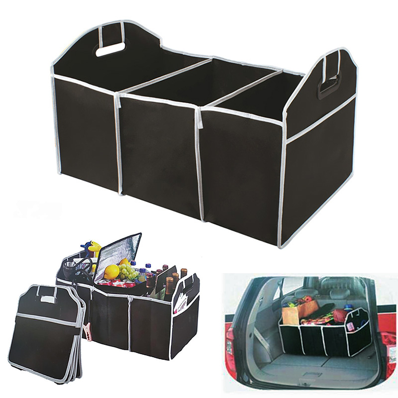 Non-Woven Car Trunk Storage Bag Sundries Folding Box Stowing Tidying Auto Accessories