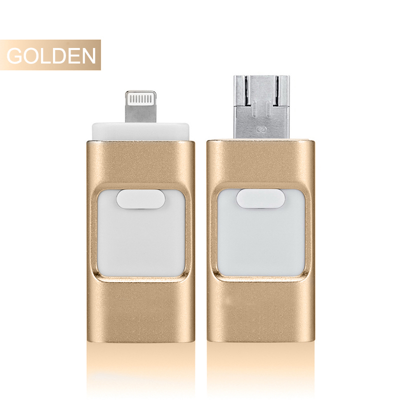 3 in 1 Metal OTG USB Fash Drive 32GB Memory Stick for iphone ipad U disk