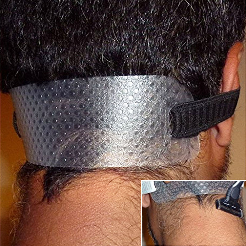 Neck Hair Guide - Template for Shaving Keeping a Clean and Curved Neck Hairline
