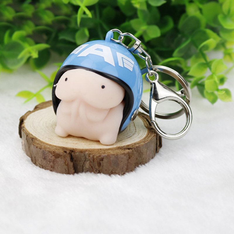 Cute Mochi Dingding with Helmet Tricky Squeeze Toy Fidget Stress Soft Toys