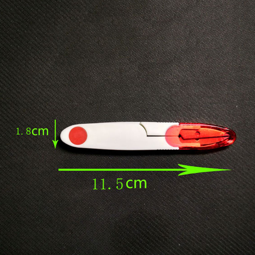 Fishing Cutter With Cap Color Lid Small Yarn Shears Cross Stitch Scissors Fishing Accessories Tools