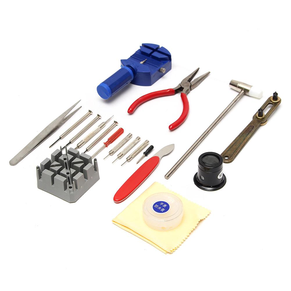 19 Pcs/Set Watch Repair Tool Kit Link Remover Spring Bar Tool Opener Screwdriver Case Bag