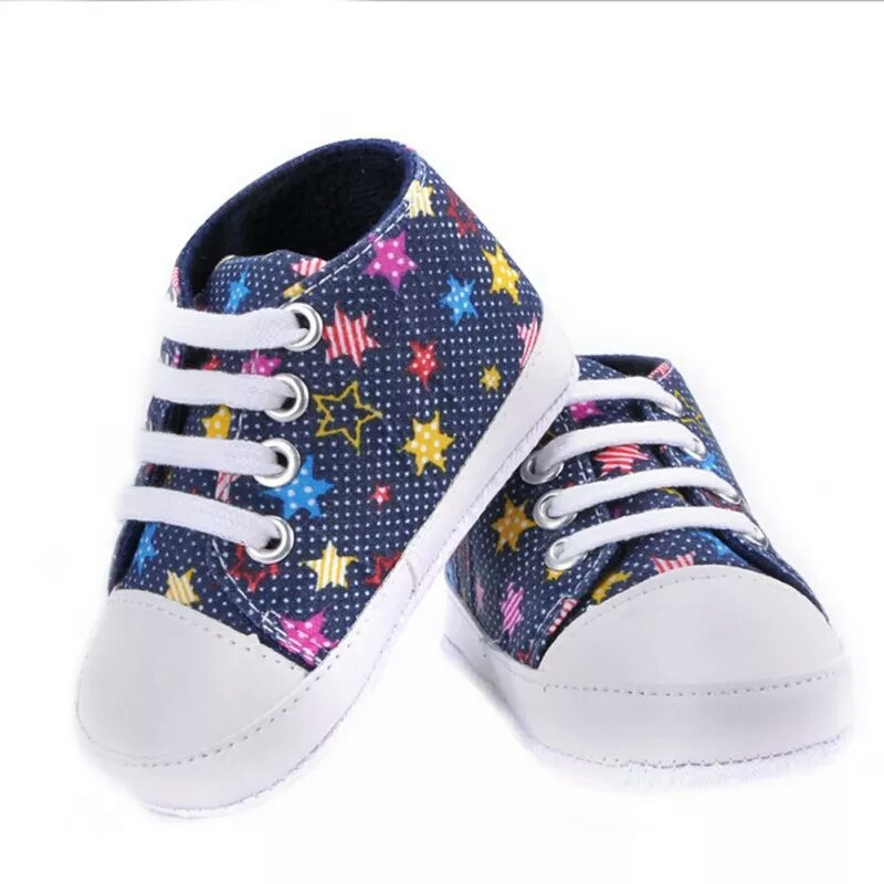 Stars Patten Baby Shoes Girls Boys Canvas Shoes Soft Casual Baby Shoes