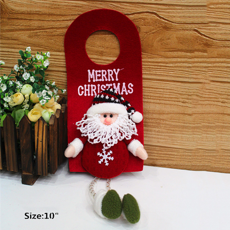 "10"" Christmas Door Wall Hanging Ornaments Decor Santa Claus/Snow Man/Elk"