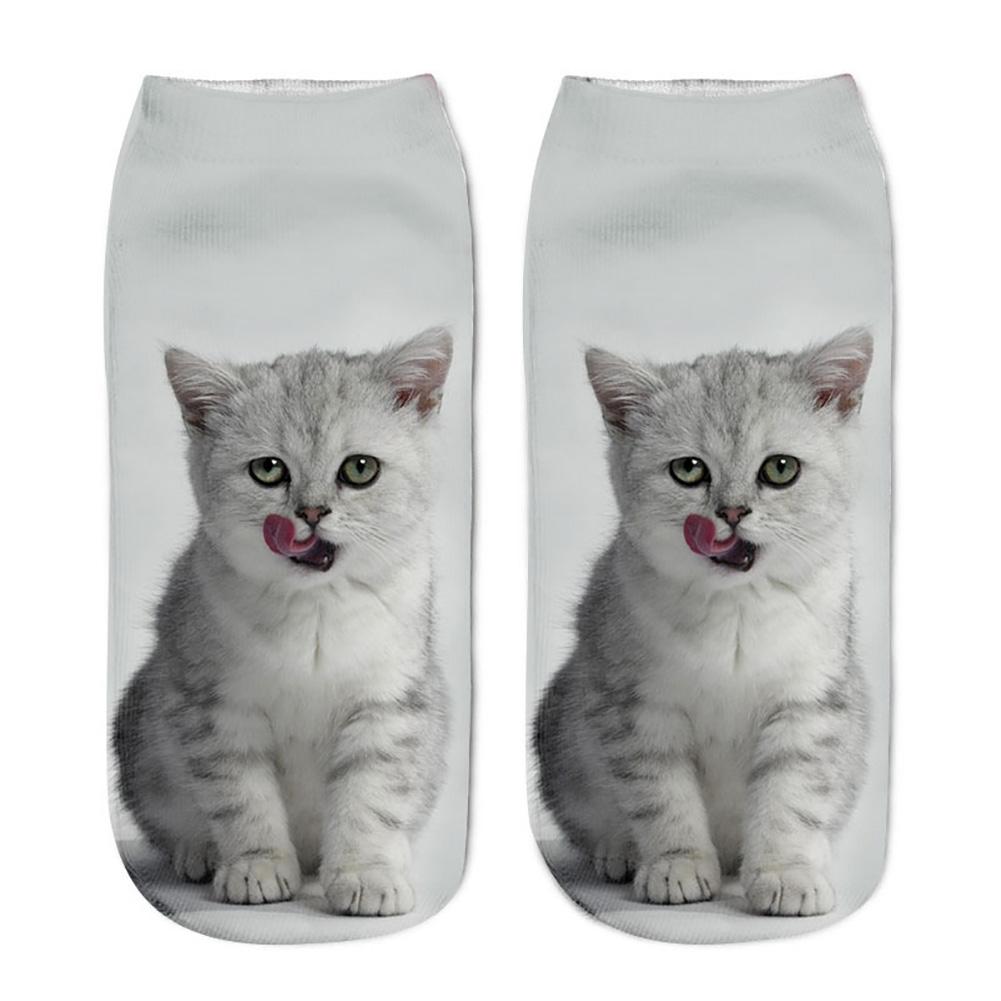 3D Printed Novelty Women Socks Cute Pidlet Pig Animal Low Ankle Sock Slippers