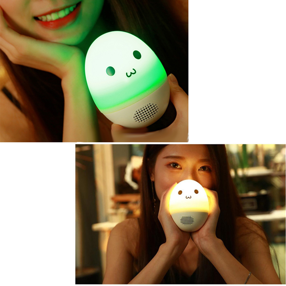 Mini Portable Wireless Music Speaker LED Colorful light Bluetooth Touch The Discoloration Tumbler Stereo Speakers