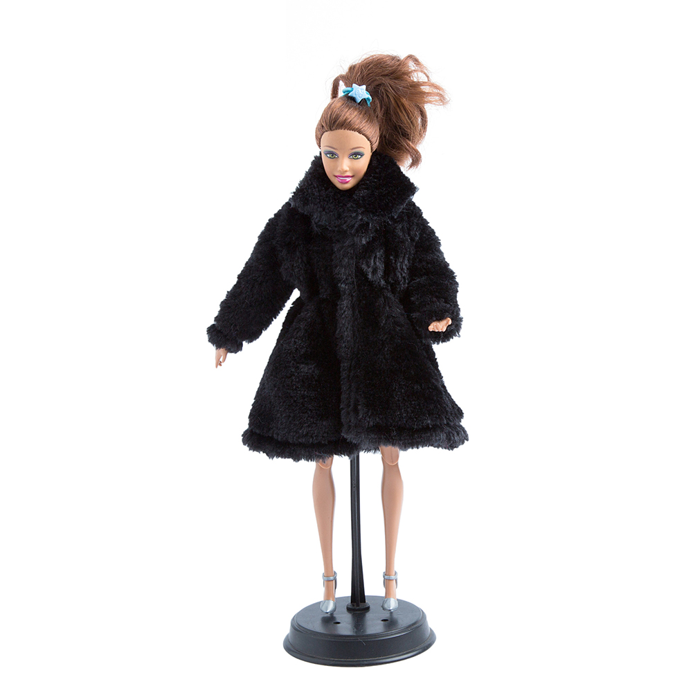 14 Colors Barbie Doll Handmade Winter Warm Flannel Coat Dress Outfit Accessories Gift