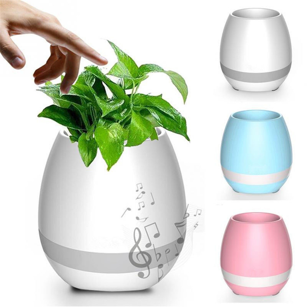 Smart Music Flowerpot Colorful LED Bluetooth Speaker 360° Magical Sound Music Speaker Gifts