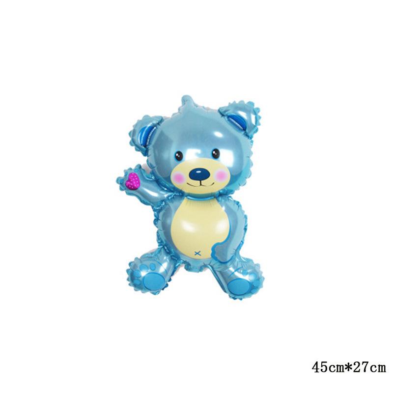 Cartoon Bear Aluminium Foil Ballloons Baby Shower Party Decoration
