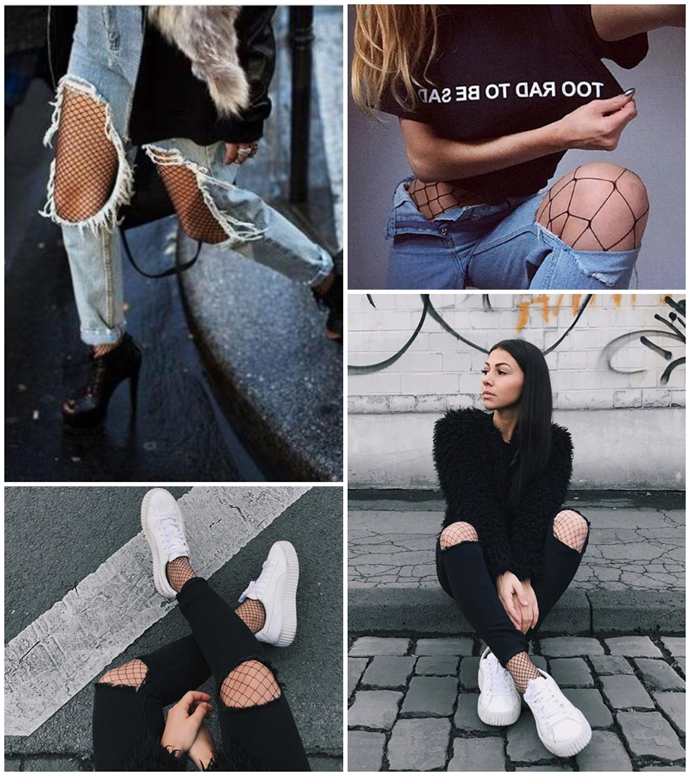 Fashion New Sexy Women Black Net Fishnet Thigh-High Long Socks Stockings Pantyhose Tights Bodystockings