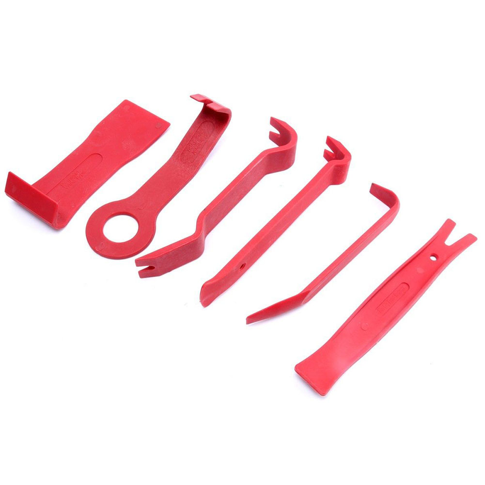 Bright Red 11PCS Trim Removal Tool Kit upholstery trim moldings pry clip dash door panels