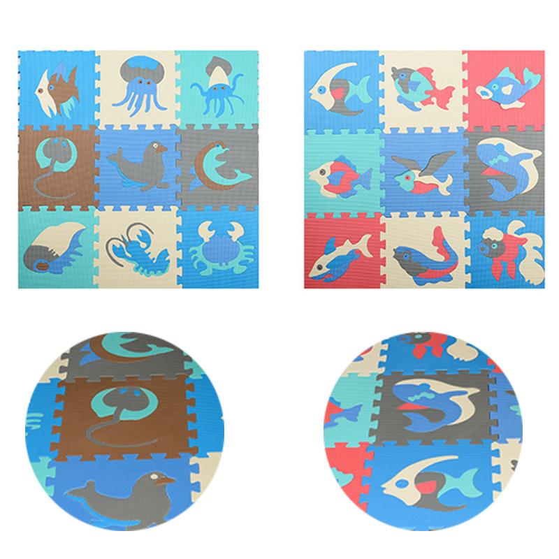 9pcs Baby DIY Soft EVA Foam Play Ocean Mat Puzzle Toy Floor Tile Game