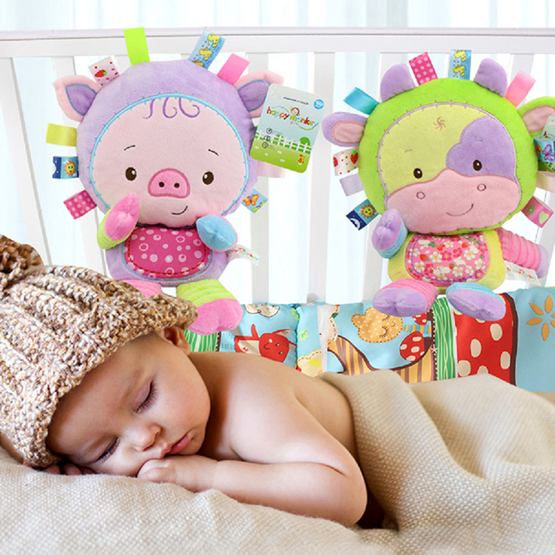 Newborn Baby Soft Sound Animal Plush Squeeze Rattle Toy Gifts
