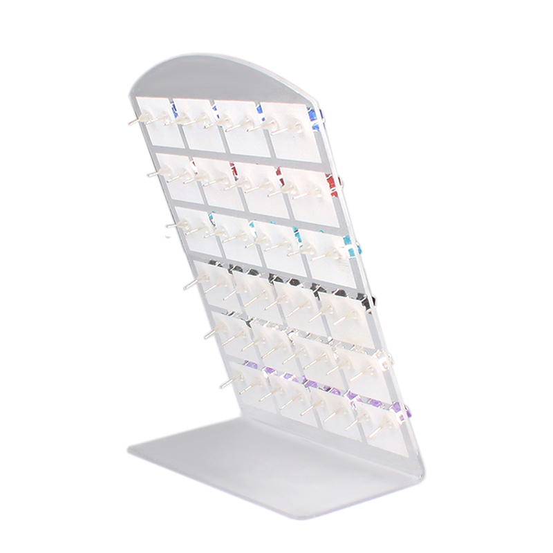 Earring Necklace Jewelry Showcase Plastic Display Rack Stand Holder Organizer P0