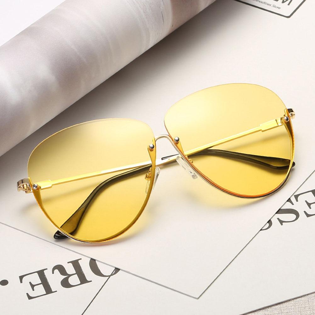 cdaf75c19e62 ... Rimless New Cat Eye Women Sunglasses Transparent Fashion Brand Designer  Sunglasses Lady Clearly Large Metal Gold ...