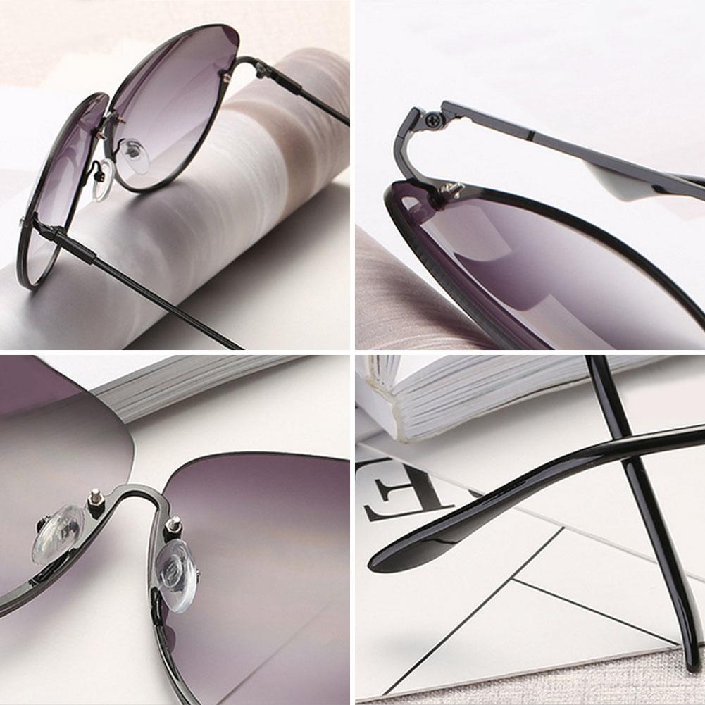 Rimless New Cat Eye Women Sunglasses Transparent Fashion Brand Designer Sunglasses Lady Clearly Large Metal Gold Frame UV400