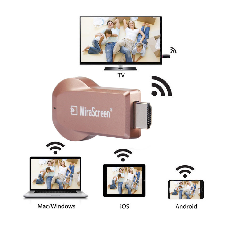 MiraScreen MX Wireless WiFi Display TV Dongle Receiver HDMI 1080P Airplay