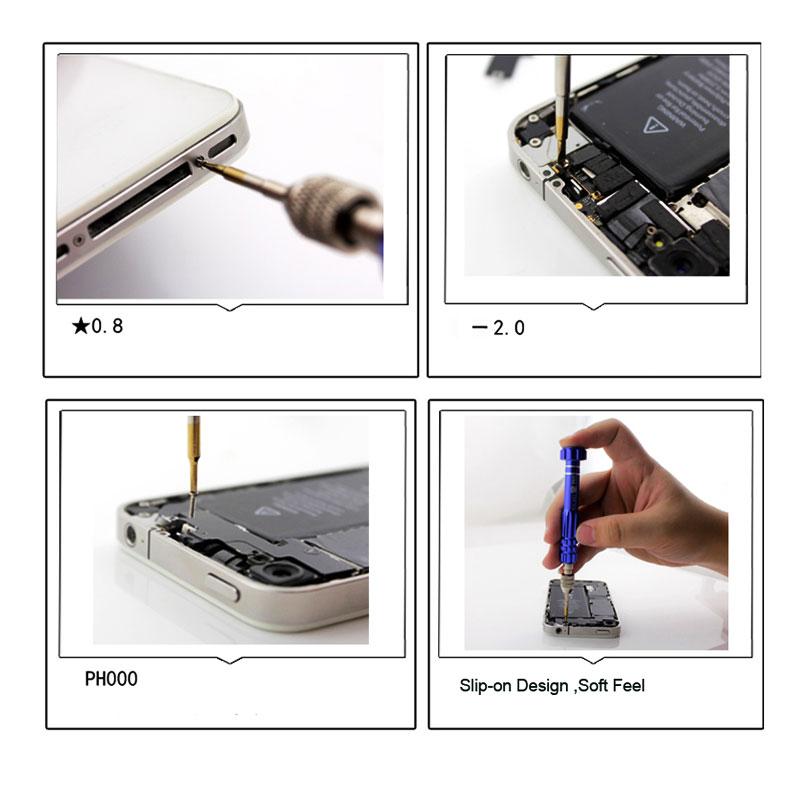 5 in1 Screwdriver Set Repair Tools Kit for iPhone Samsung Laptop HTC LG