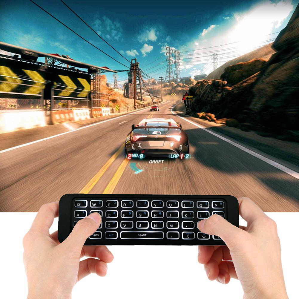 MP3 2.4G Backlit Wireless Remote Control Keyboard Controller Air Mouse For Smart TV Android TV Box Mini PC HTPC