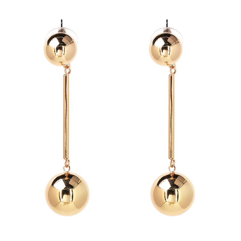 1 Pair Womens Round Circle Beads Dangle Earrings Fashion Elegant Ear Stud Charm Jewelry Gift