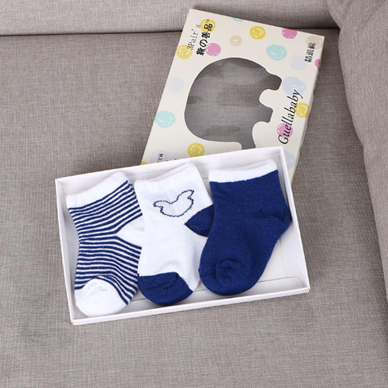 3 Pairs Cute Baby Kids Toddler Soft Cotton Infant Anti Slip Warm Socks 0-1Y