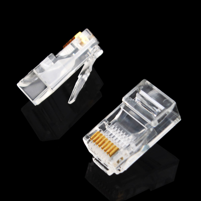 100 Pieces 8P8C RJ45 Modular Plug for Network CAT5 LAN + RS232 Optical Isolation Transceiver