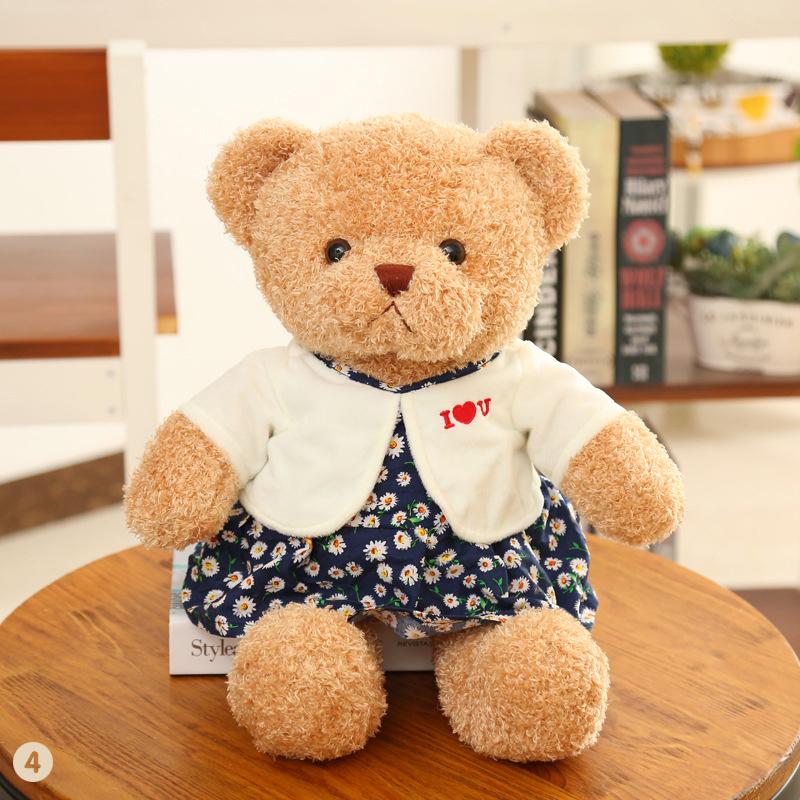 30/50cm Cute Bear Plush Toys Stuffed Creative Bear Pillow Doll Soft Cushion Gift