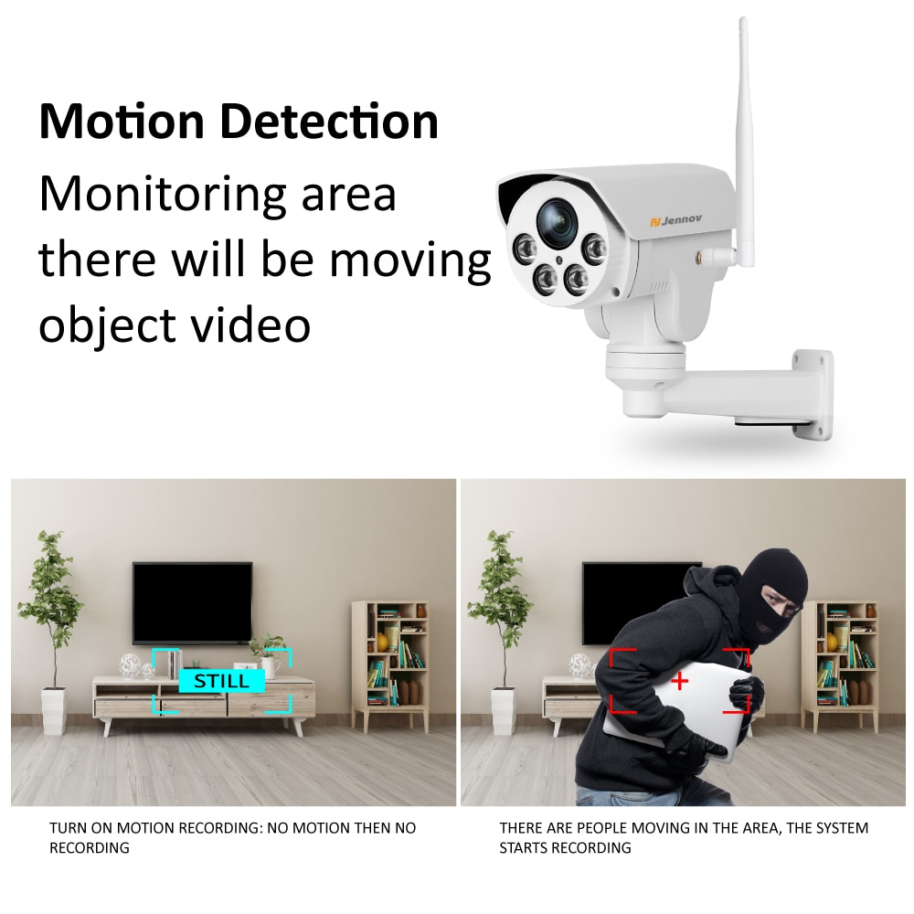 Jennov Audio Record Wifi IP Camera Zoom 1080P 2MP Video Surveillance Wi-Fi HD Home Security Wireless Camera P2P ONVIF Camhi CCTV