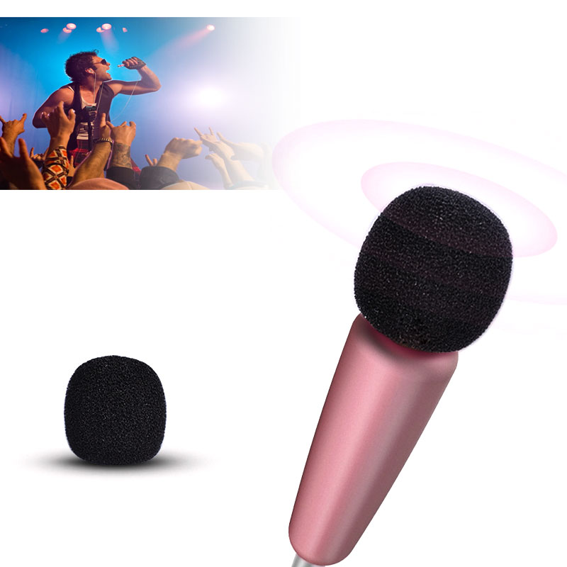 Mini Handheld IK Microphone with Earphone Plug and Play for PC Pad Tablets Smartphones 3.5mm Audio Plug