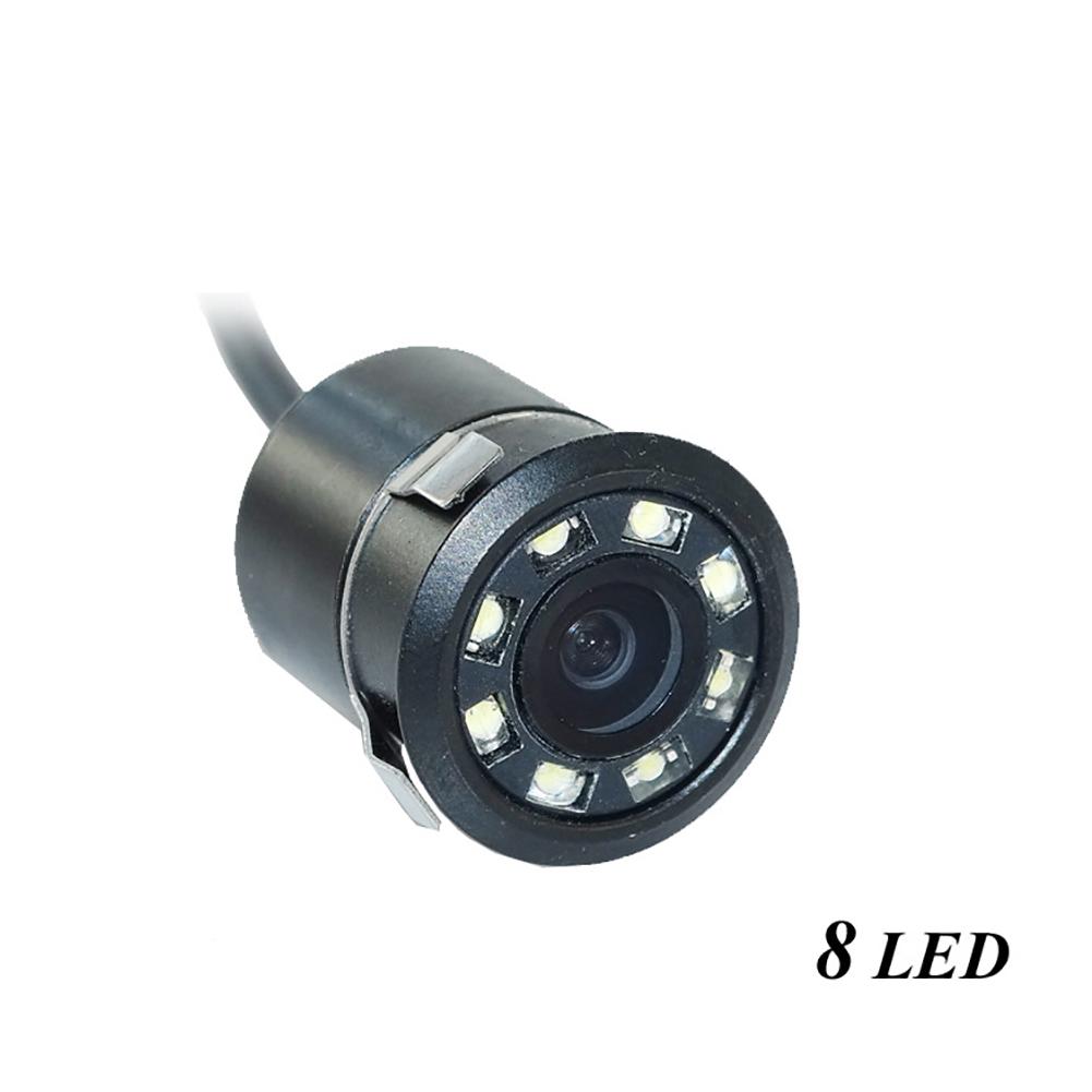 Car Rear View Reversing HD Camera Back Up Parking Plate Night Vision 8 CREE LED