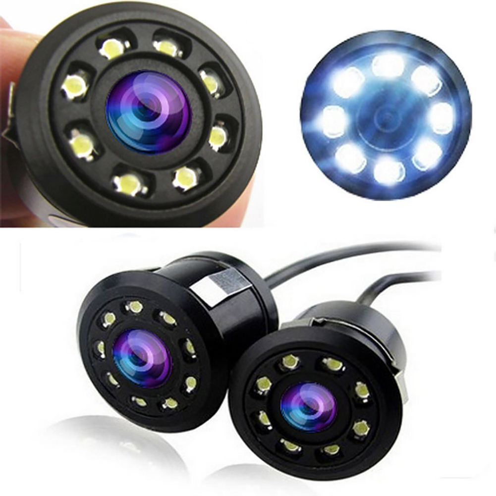 Car 8 LED Backup Rear View Reverse Parking HD Camera Waterproof Night Vision