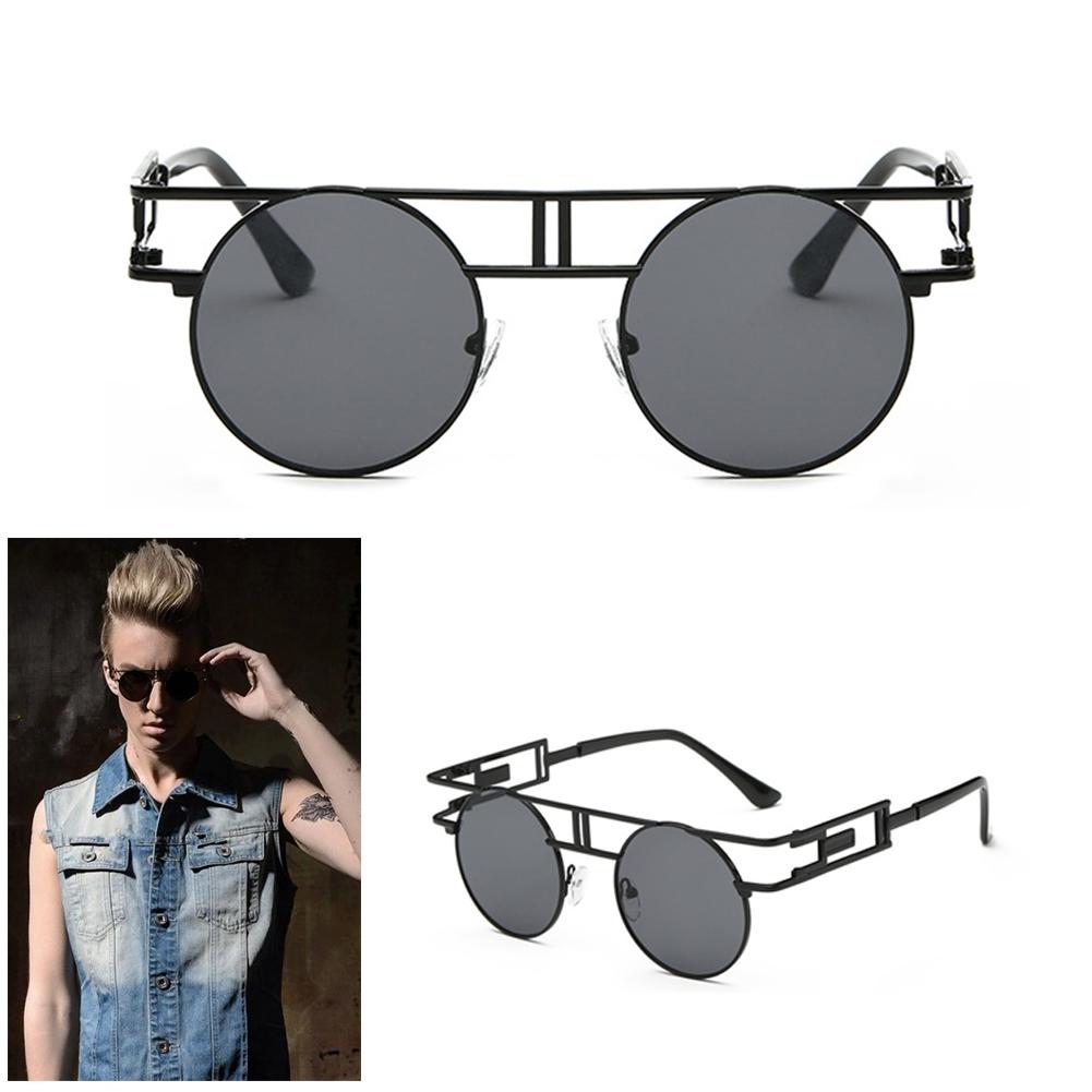 Men Women Retro Vintage Round Mirrored Sunglasses Outdoor Sports Glasses