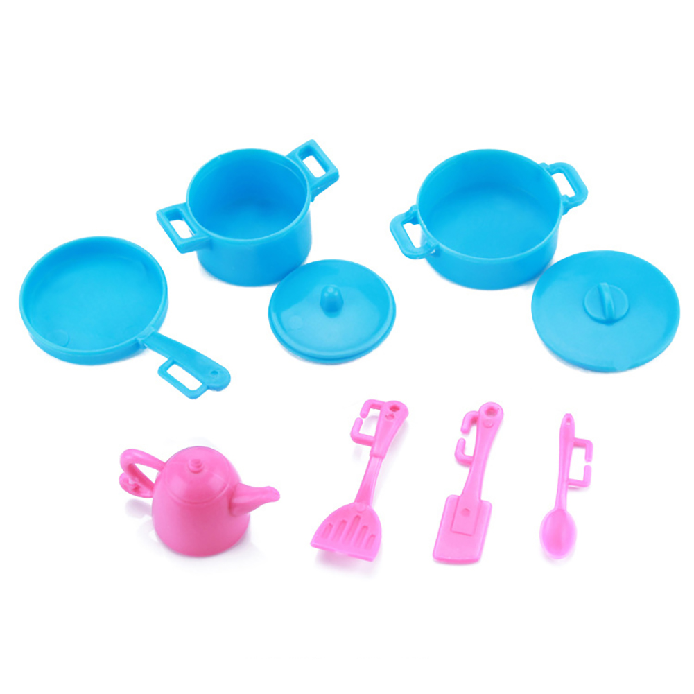 10 Pcs Beautiful Party Barbie Clothes 18 Pair Shoes 57 Pcs Barbie Kitchen Supplies Cleaning Tools Hanger Doll Accessories