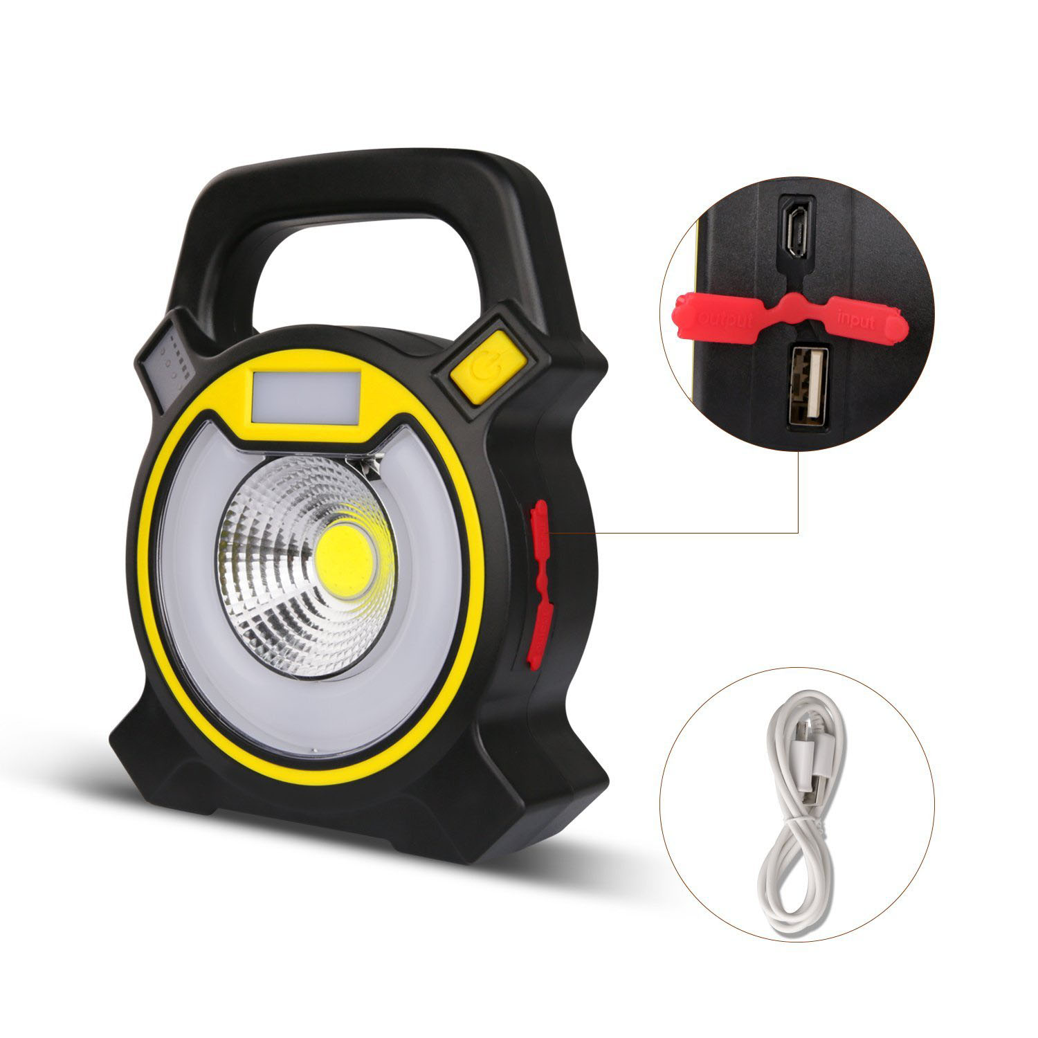 Outdoor Rechargeable USB Powerful COB LED Portable Work Light fishing Floodlight