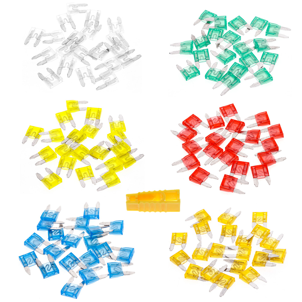 120pcs Mixed Mini Blade Fuse Assortment Set Auto Car Truck DG Motorcycle SUV Fuses Kit New