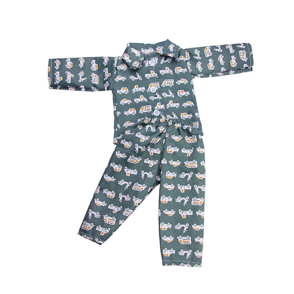 Colorful Doll Clothes Sleepwear Set for 18 inch Male Boys Doll Random