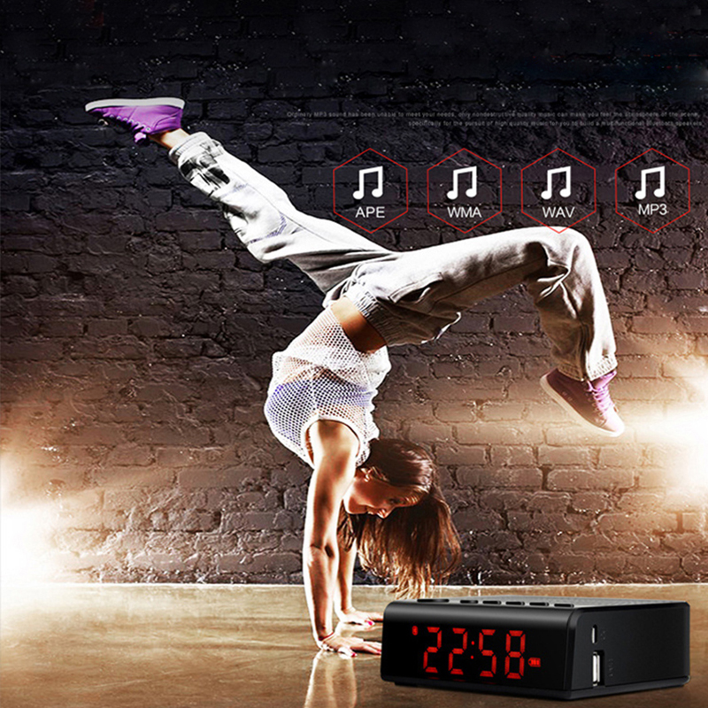 Bluetooth alarm clock speaker with hub led for ipod iphone6 ipad mp3
