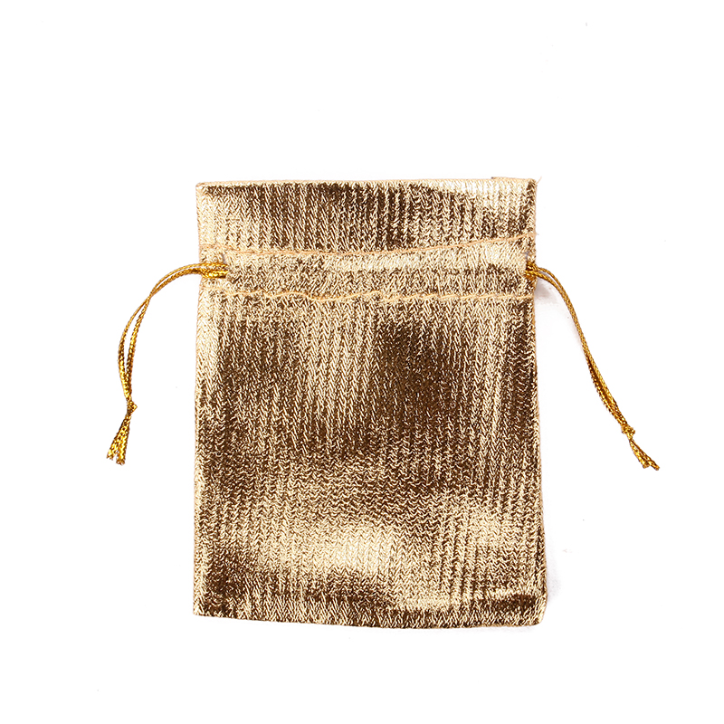 1/10/30/50pcs Gold Silver Metallic Stain Jewelry Gift Pouch Bags 7x9cm