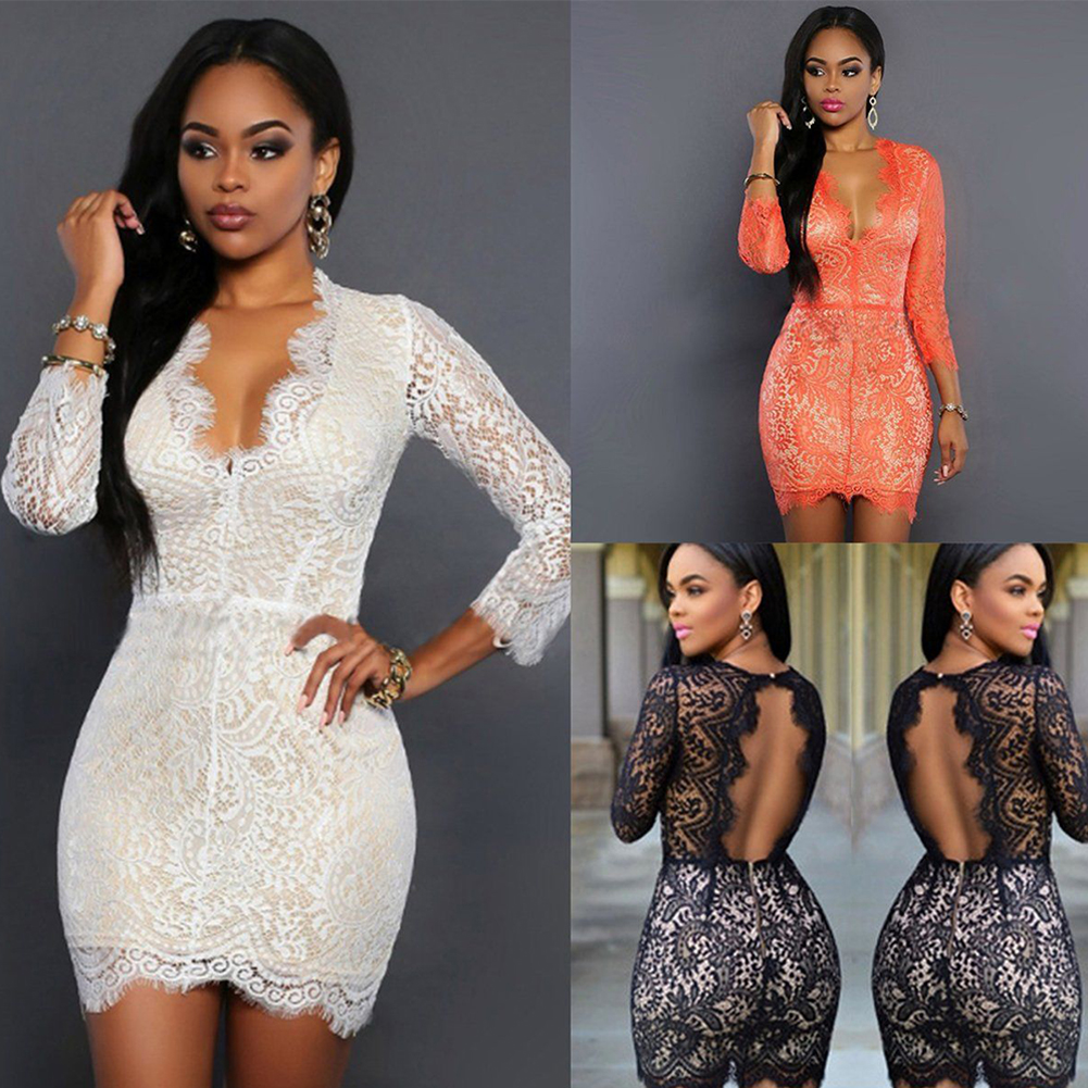 Women's Ladies Sexy Lace Mini Dress Summer Bandage Bodycon Evening Party Cocktail Short
